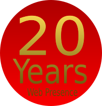 20 Years Web Presence logo